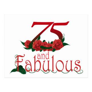 Postal 75 y 75.o número fabuloso del cumpleaños
