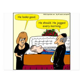 Postal 898 él mira el buen dibujo animado fúnebre