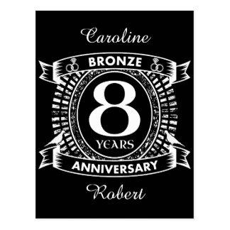 Postal 8vo bronce del aniversario de boda