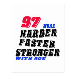 Postal 97 más fuertes más rápidos más duros con edad