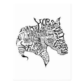 Postal a pulso de la tipografía de Finnhorse