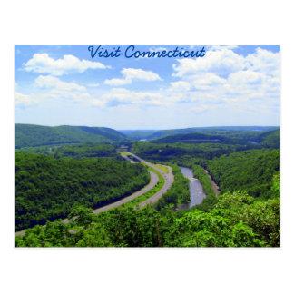 Postal A través del valle de Connecticut