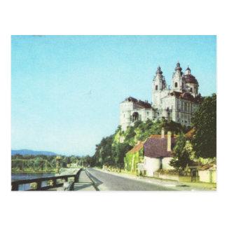 Postal Abadía de Austria del vintage de Melk, Wachau,