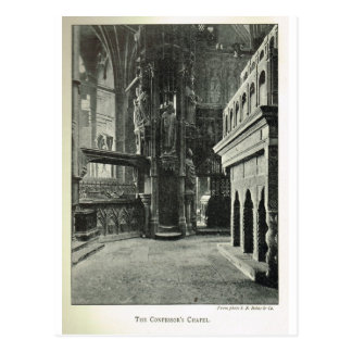 Postal Abadía de Westminster, la capilla 1904 del