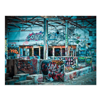 Postal abandonada de la fotografía de la fábrica