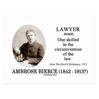 Postal Abogado (Ambrose Bierce el diccionario del diablo)