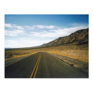 Postal Abra la carretera Death Valley