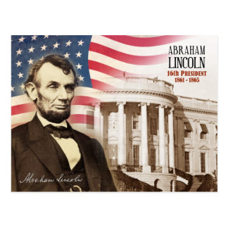 Postal Abraham Lincoln - décimosexto presidente de los