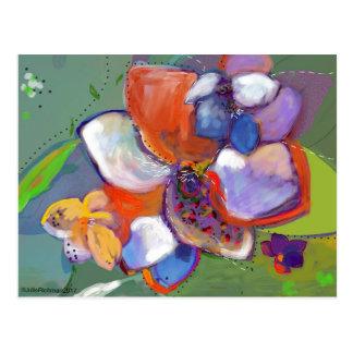 Postal abstracta 5   de las flores de Digitaces