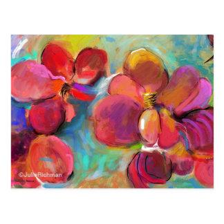 Postal abstracta 6   de las flores de Digitaces