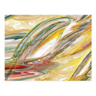 Postal abstracta de la mancha de la pintura