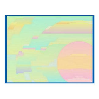 Postal abstracta del arte del cielo