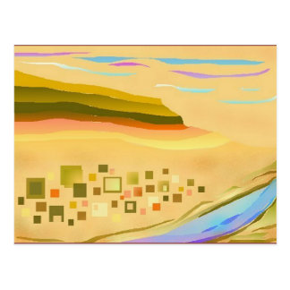Postal abstracta del arte del paisaje del desierto