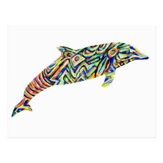 Postal abstracta del delfín