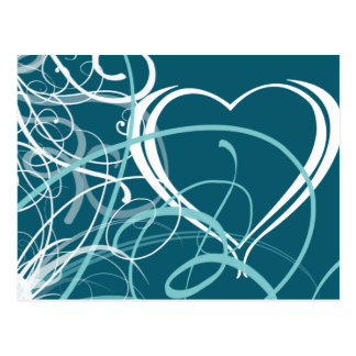 Postal abstracta del el día de San Valentín