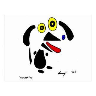 Postal abstracta del perro