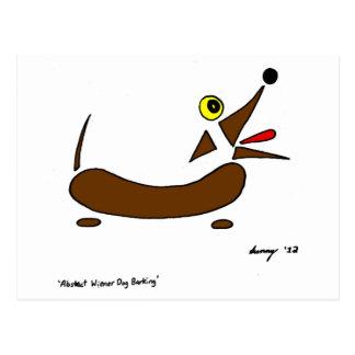 Postal abstracta del perro de la salchicha de