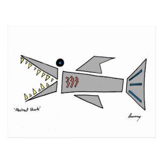 Postal abstracta del tiburón