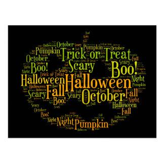 Postal ¡Abucheo de la calabaza de Halloween!