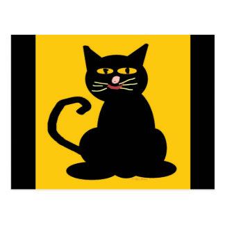 Postal Abucheo el gato