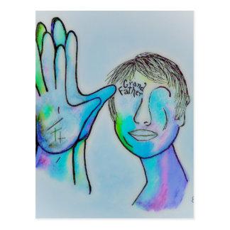 Postal Abuelo del ASL en insinuaciones azules