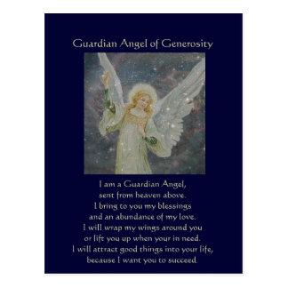Postal Abundante - ángel de guarda de la generosidad