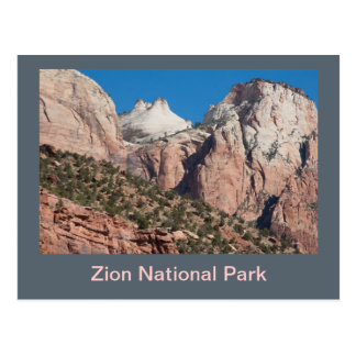 Postal Acantilados del parque nacional de Zion