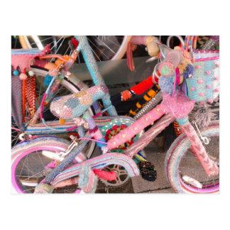 Postal Accesorios hechos punto de la bicicleta