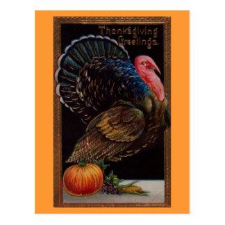 Postal Acción de gracias Turquía del vintage