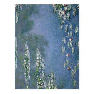 Postal Aceite de los lirios de agua de Claude Monet 1906