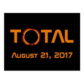 Postal Acontecimiento total del eclipse solar