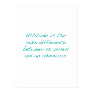 Postal Actitud -- prueba dura o aventura (verde)