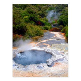 Postal Actividad geotérmica cerca de Rotorua, Nueva