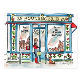 Postal Acuarela de BOULANGERIE 28 París