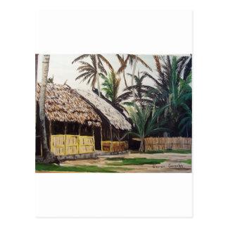 Postal Acuarela de las islas de San Blas, Panamá