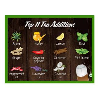 Postal Adiciones superiores del té