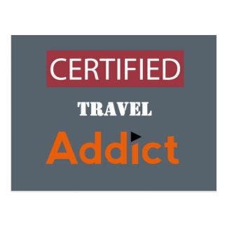 Postal Adicto certificado al viaje
