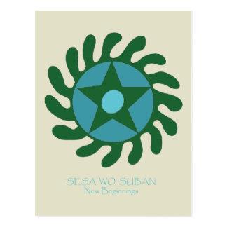 Postal Adinkra Sesa Wo Suban - nuevos principios
