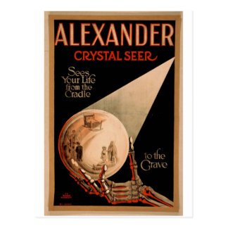 Postal Adivino del cristal de Alexander