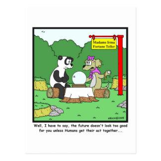 Postal Adivino: Dibujo animado de la panda