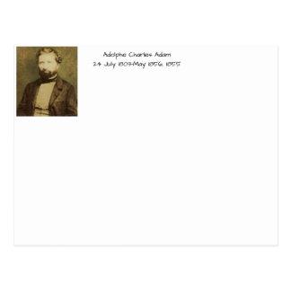 Postal Adolfo Charles Adán, 1855