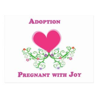 Postal Adopción embarazada con alegría
