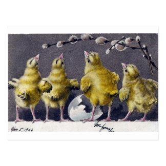 Postal adorable del vintage de Pascua