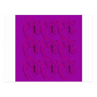 Postal Adorna diseño púrpura
