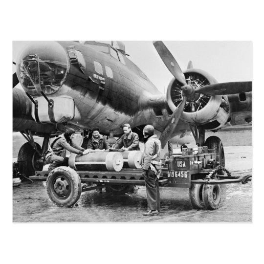 Postal Aeroplano WW2 y equipo: los años 40