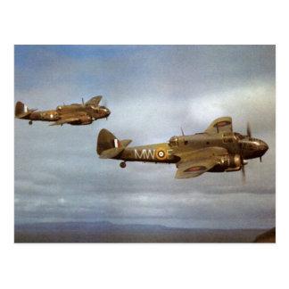 Postal Aeroplanos históricos WW2 en vuelo