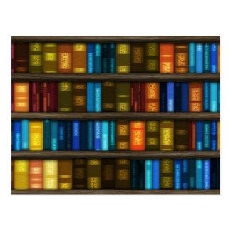 Postal Aficionados a los libros y libros coloridos de los