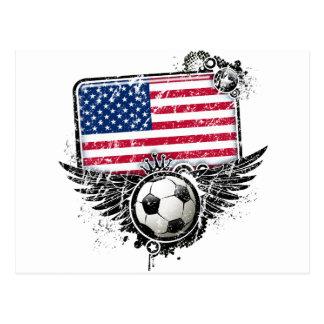 Postal Aficionados al fútbol los E.E.U.U.