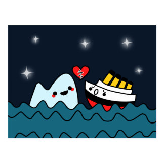 Postal afligida del iceberg titánico de la nave de