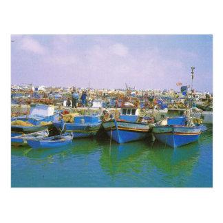 Postal África del Norte, Jerba, Túnez, barcos